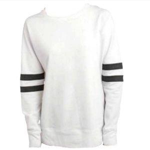 SALE NWT Terry Sweatshirt w/ Faux Leather  (ss2)